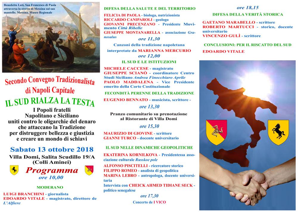 INVITO INTERNO 1000 SECONDO CONVEGNO TRADIZIONALISTA DI NAPOLI CAPITALE 2018